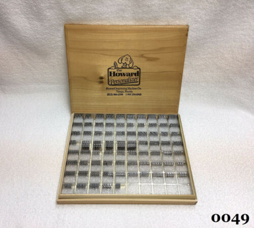 Howard Machine Personalizer - 24pt. Goudy Light Italic - Hot Foil Stamping