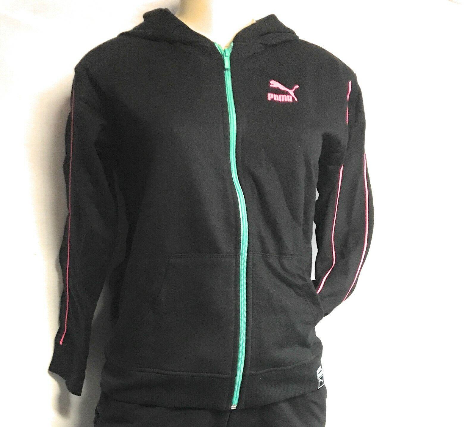 PUMA Big Girls Fleese Full-Zip Hooded Sweat Shirt