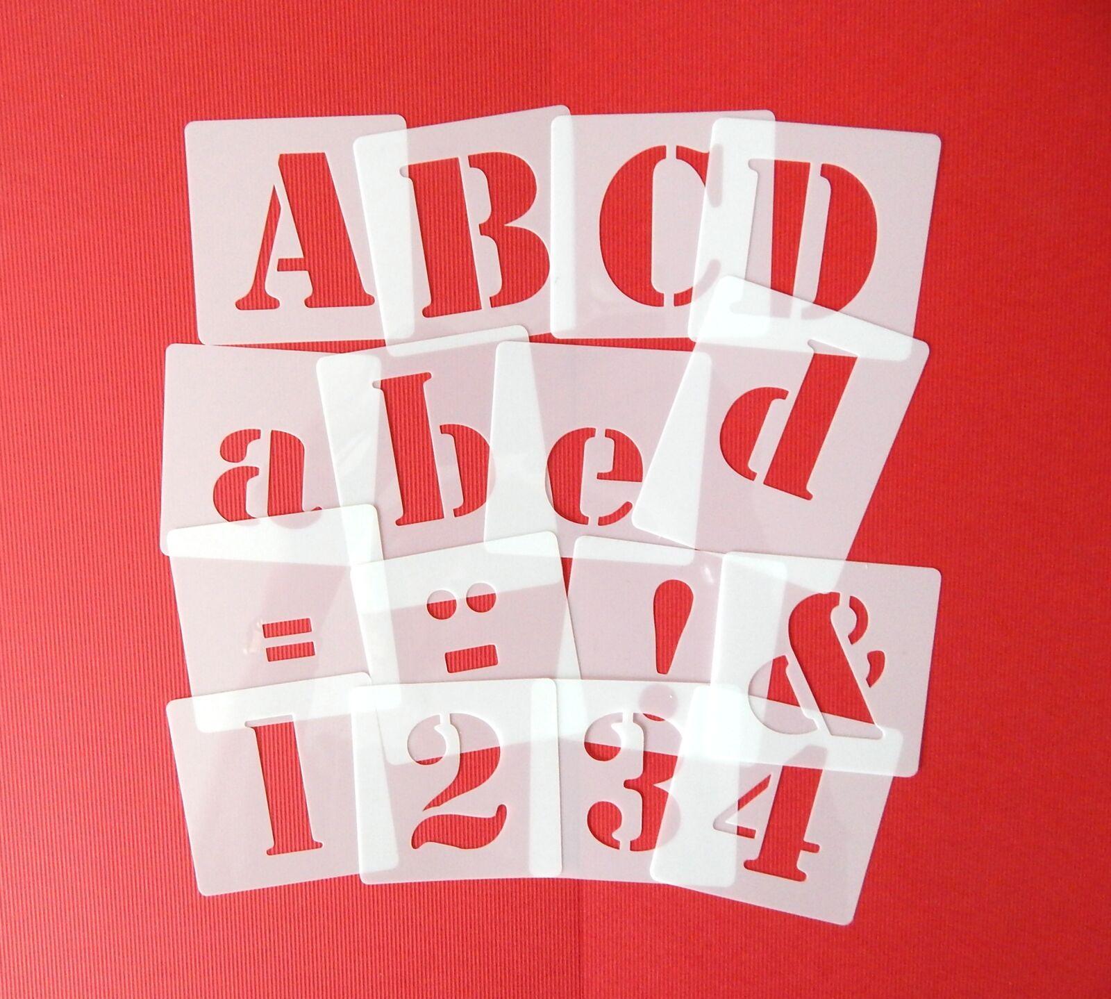Schablonen Sets mit ● Druck - Buchstaben ● ABC groß 6cm, abc klein oder Zahlen