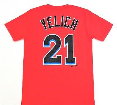 Miami Marlin Tee (Miami Marlins T-Shirt Christian Yelich Youth Miami MLB Boys Majestic  )