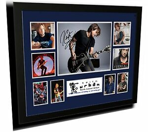 KEITH URBAN SIGNED LIMITED EDITION FRAMED MEMORABILIA