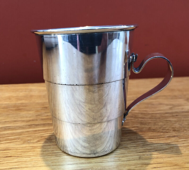 Antique Silver Plated Collapsible Travel / Hunting Cup By Goldsmiths Co. C. 1910