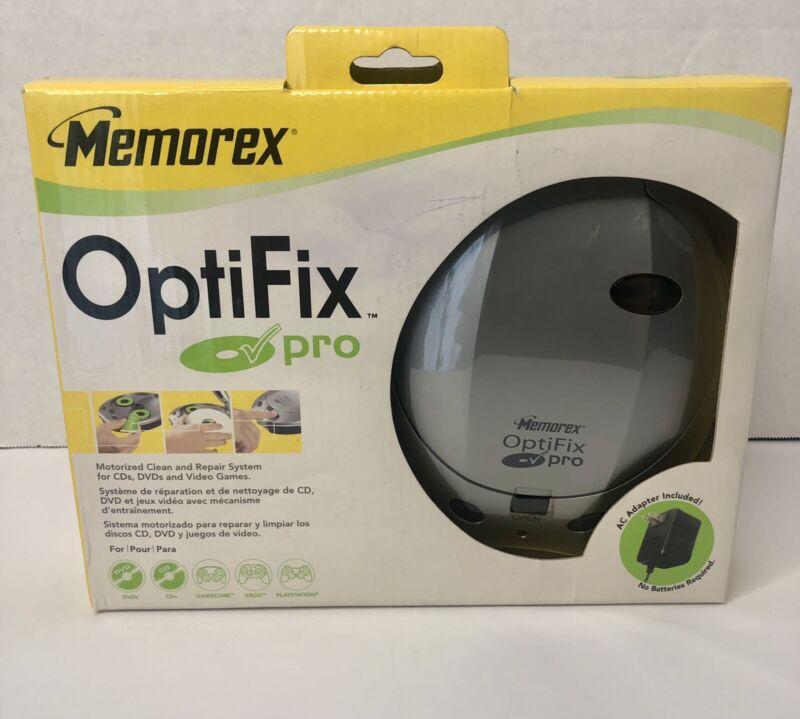 Memorex Optifix Pro Motorized Media CD Disc Cleaning & Repair New