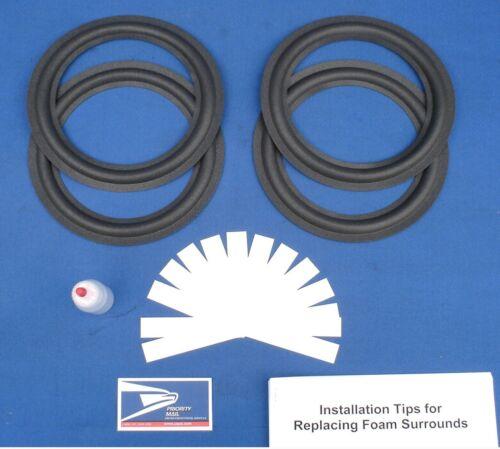 JBL Pro III / Plus / Control One DOUBLE Speaker Foam Surround Kit Woofer Repair