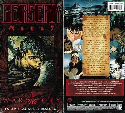 Berserk Vol 1 War Cry Anime VHS Video Tape New English Dubbed