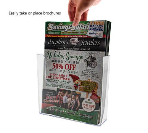 "Slatwall Brochure Catalog Literature Holder 7.5"" Wall Mount Counter top Qty 24"