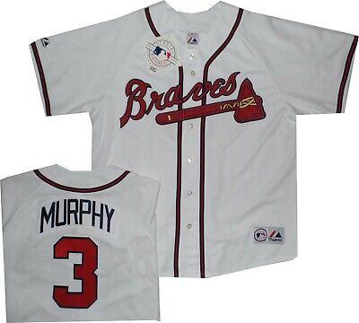 Majestic Fashion Replica Jersey - Atlanta Braves Dale Murphy White Replica Majestic Jersey Older Style A6400  XL