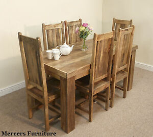 Mantis Solid Mango 152cm Dining Table And 6 Chairs