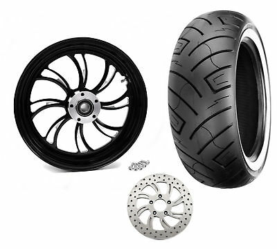 Ultima Vortex Black Billet 18 5.5 Rear Wheel Rim WWW Tire Package Harley Custom for sale  Pennsylvania