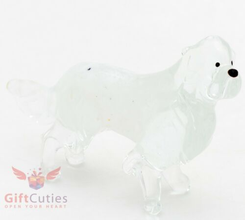 Art Blown Glass Figurine of the Great Pyrenees dog