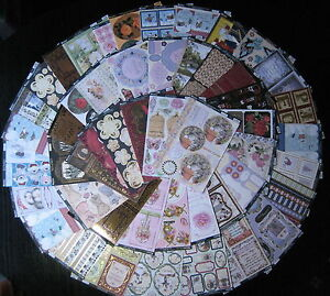 50 Kanban die cut topper sheets, toppers - lucky dip bargain - craft clearout