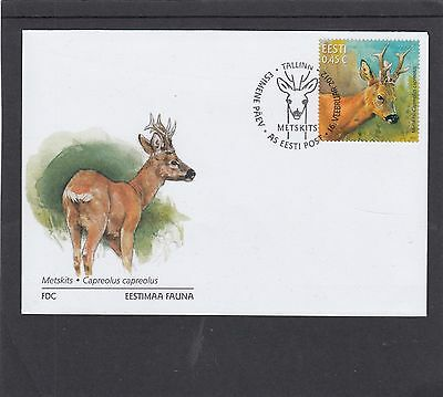 Estonia 2012 Deer First Day Cover FDC Tallin special h/s