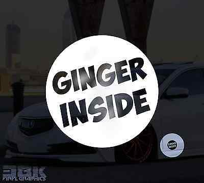x2 Ginger Inside Funny Car/Window/Bumper Drift JDM Euro Dub Decal Stickers