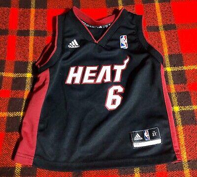 Vintage Lebron James LBJ Sz 3T Miami Heat Toddler NBA Basketball Jersey Adidas