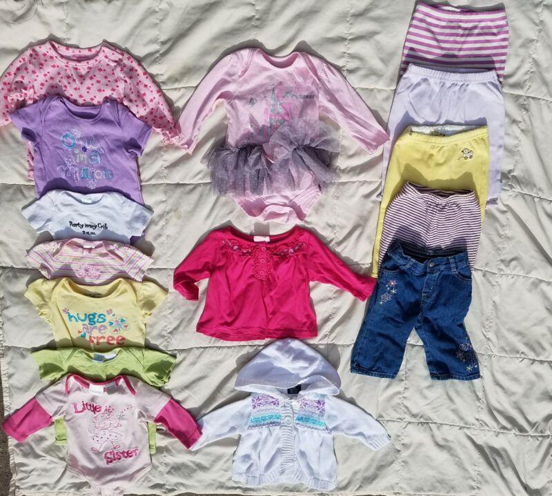 Free Shipping 3-6 Month Baby Girl Clothes Lot Bodysuit, Pants, Jacket, Tutu