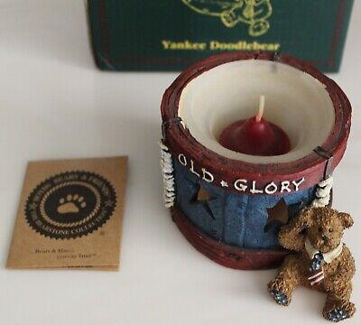 Boyds Bears Votive Candle Holder Yankee Doodlebear...Stars & Stripes Forever 1E