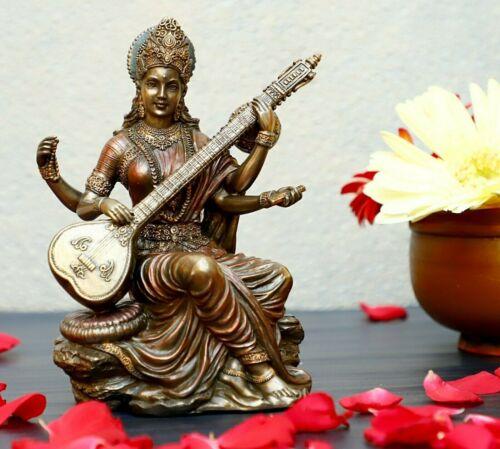 Goddess Saraswati Statue, Goddes of knowledge, Home Décor, Hindu Goddess,