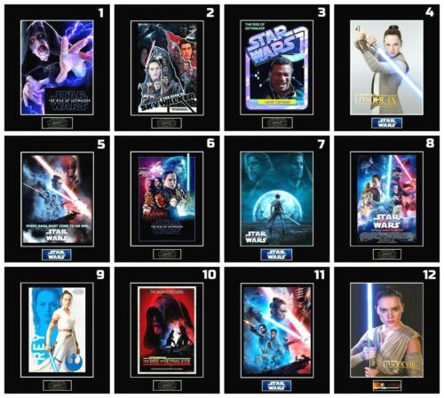 """12 STAR WARS EP 9 Character 8"""" x 10"""" Photos - 11""""x14"""" Black Matted - PICK ANY 1"""