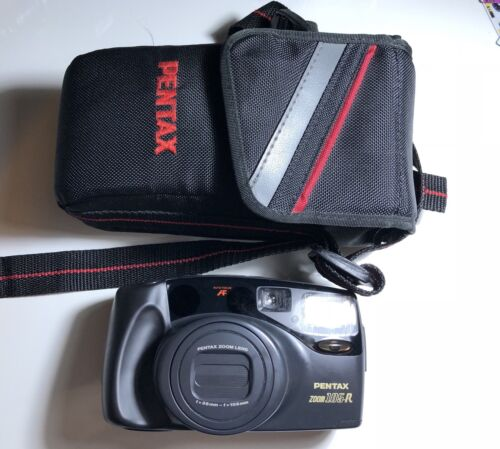 Pentax Zoom 105-R 35mm Film Camera 38-105mm Zoom Lens TESTED - $39.00