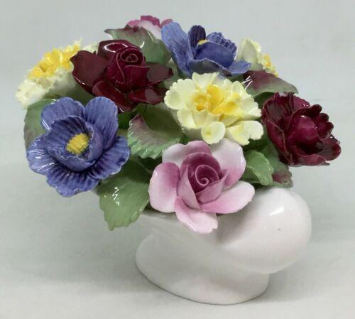 Aynsley England Fine bona china Flowers in pot [AH865]