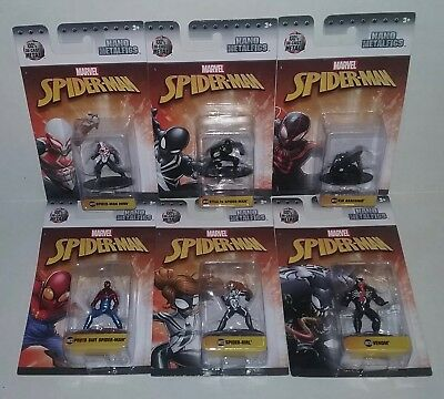 Jada Nano Metalfigs Spider-Man 2099 Stealth Kid Arachnid Spider-Girl Venom Lot