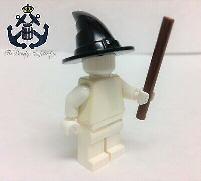 Witch Wands For Halloween (Lego Minifigure Witch Hat and Wand For Harry Potter, City, Halloween,)