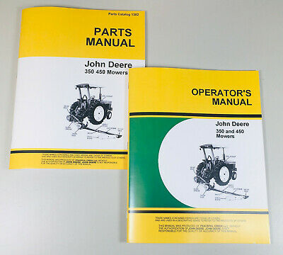 Operators Parts Manuals For John Deere 350 450 Sickle Bar Mower Owner Catalog