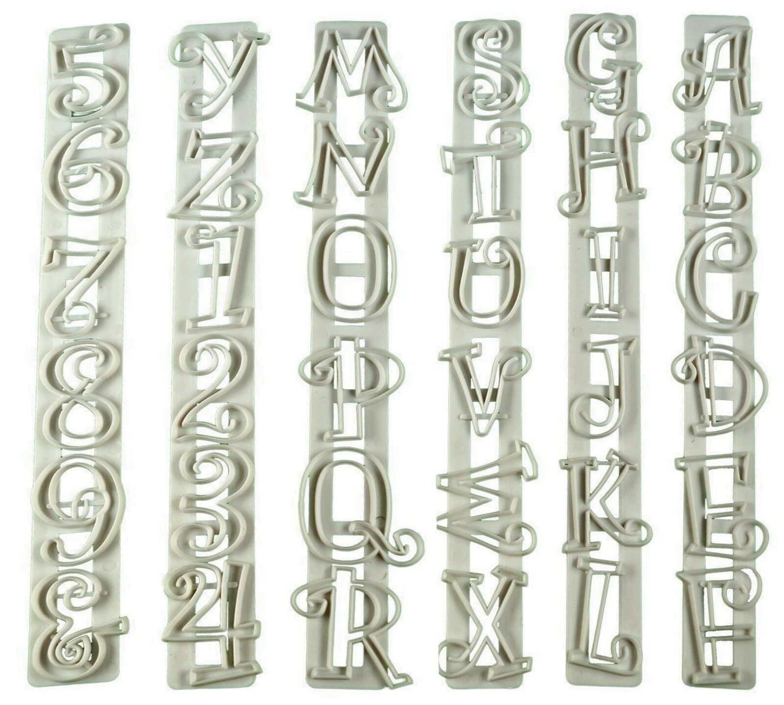 36Tlg Ausstechformen Buchstaben Zahlen Fondant Ausstecher Form Modellierwerkzeug