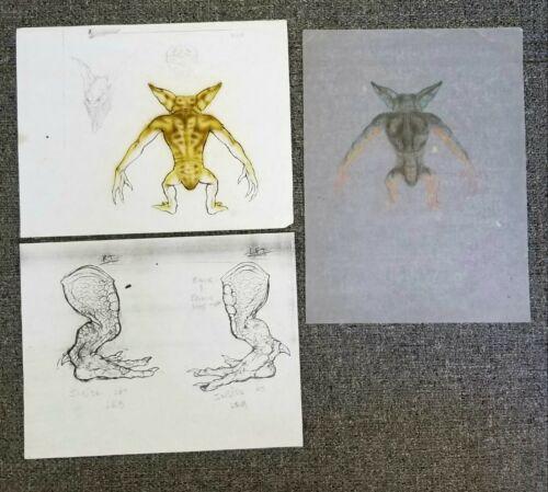 GREMLINS 2: THE NEW BATCH Rick Baker COLOR TESTS Concept Art