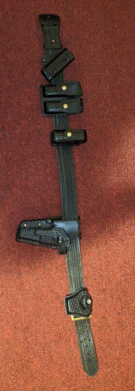 Duty Belt Leather Basketweave
