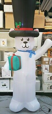 Gemmy 9ft Giant Size Polar Bear with Huge Top Hat Christmas Inflatable