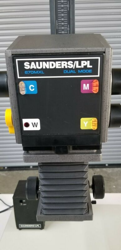 Saunders 670 MXL Dual Mode Color Photo Enlarger & Power Supply Tested Working