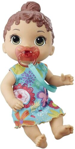 Baby Alive Baby Lil 10 Sounds Giggles Cries Brown Hair NEW NIP FREE SHIPPING