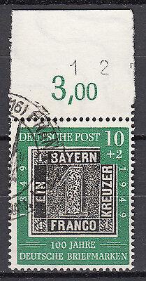 BRD 1949 Mi. Nr. 113 Gestempelt mit Oberrand LUXUS!!! (21536)