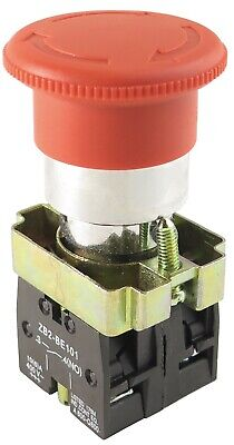 Yc-xb2 Bs545 40mm Red Emergency Mushroom Stop Push Button Turn-to-release
