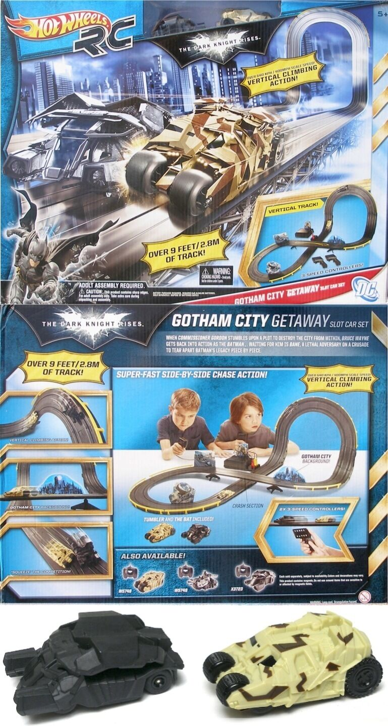 2012 Mattel Tyco Summer Bamm Pow Batman & Tumbler 440-x2 Ho Slot Car Race Set
