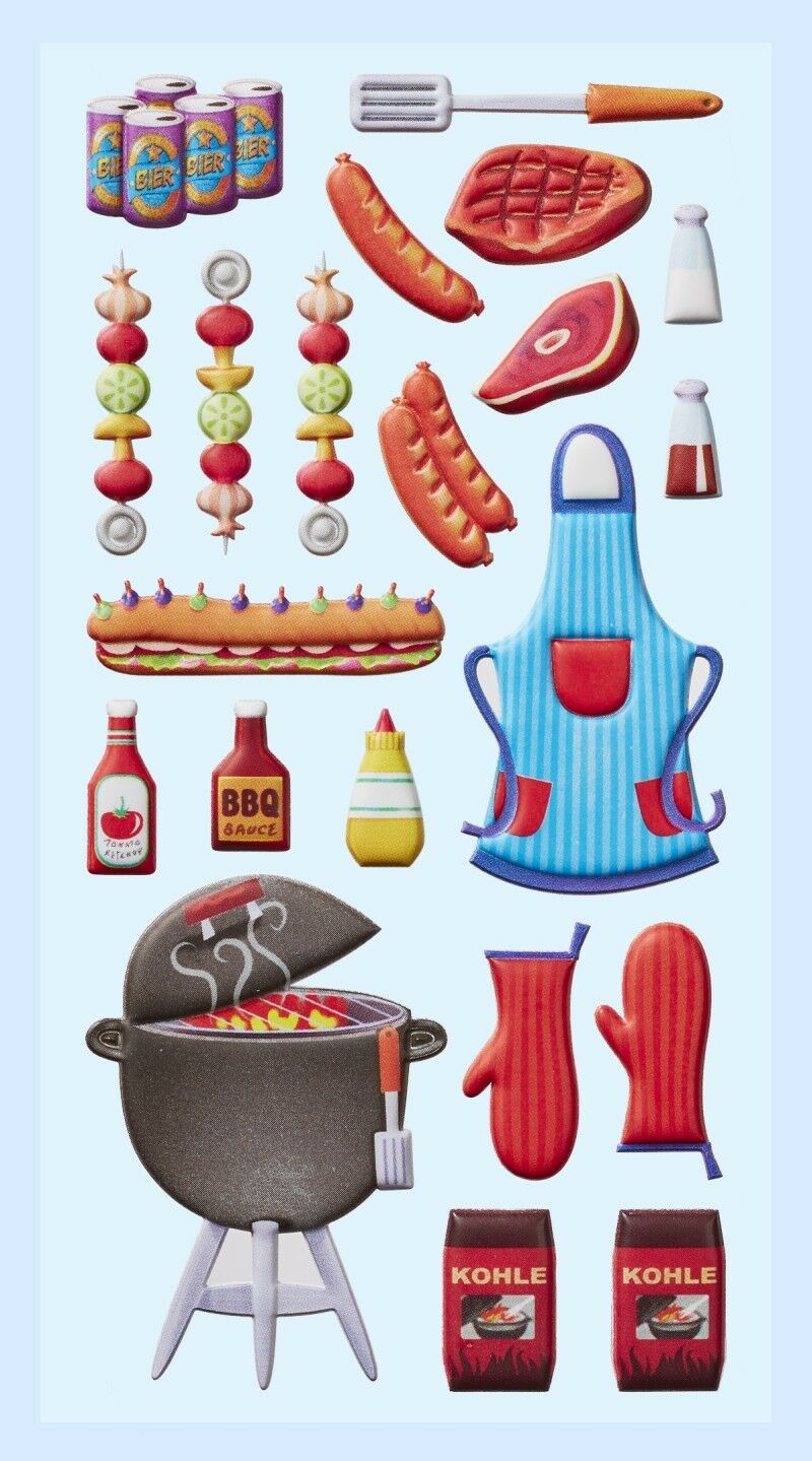 Aufkleber Softy Sticker Grill Party grillen  (266