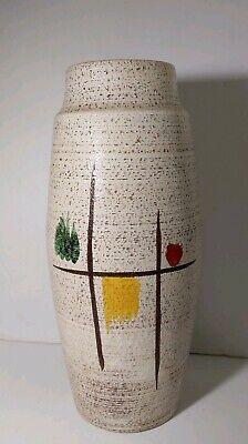 "Vintage 20"" Fat Lava Pottery Vase (West Germany) Mid Century Modern Retro"