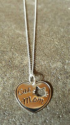 New Avon STERLING SILVER .925 CAT MOM Necklace