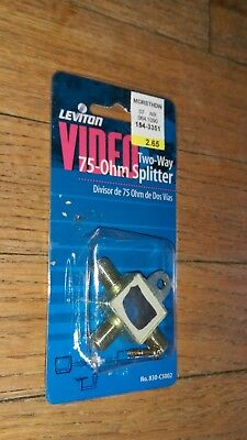 Leviton Video  Two Way 75 OHM Splitter No 830 C5002 accessory Television Cable Leviton Video Splitter