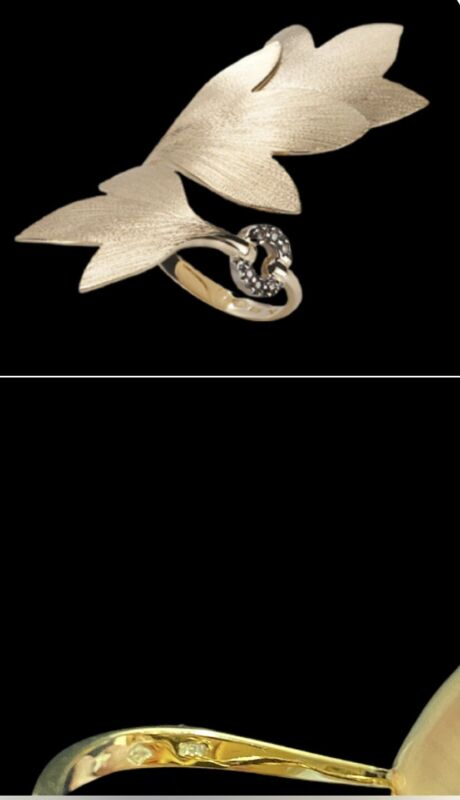H Stern Vintage Leaves Ring 18K Gold & Diamonds