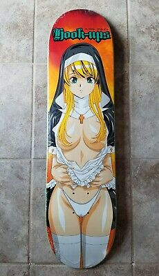 Hook-Ups Nun Skateboard Deck 8.0 Jeremy Klein JK Industries Anime Girl Supreme