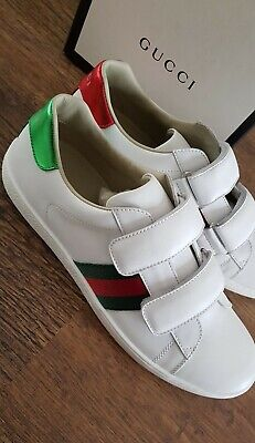 Gucci Ace Sneakers Junior with Straps Brand New 37 UK 4