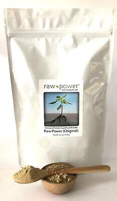 Raw Power Protein (Original) 16oz, Premium Protein/Superfood Powder Blend