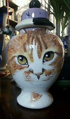 Custom Pet urn for ashes Cat cremation urn orange TABBY LONG HAIRED Med memorial