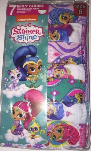 Shimmer & Shine Girls Panties - Size 6 - 2 Packs of 7 - 14 Pairs Total