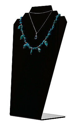 Slantback Necklace Holder Display Jewelry Stand Black Acrylic Qty 12