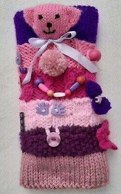 Fiddle Muff - Fidget Muff - Twiddle Muff Dementia Alzheimers Pink & Purple