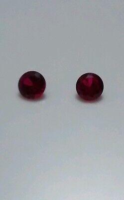 2.70 cttw Pr Lab Round blood red Rubies