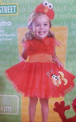 Frilly Elmo Dress Sesame Street Toddler Infant Costume Disguise - Elmo Toddler Costumes